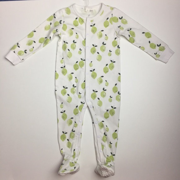 Petit Lem FIRSTS Limes Sleeper with Organic Cotton